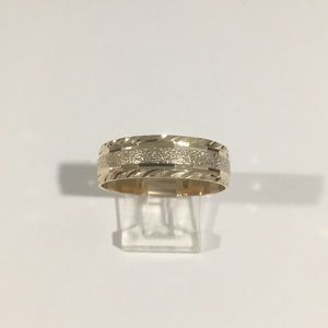 Other - 14k Yellow Gold Wedding Band Ring Diamond Cut